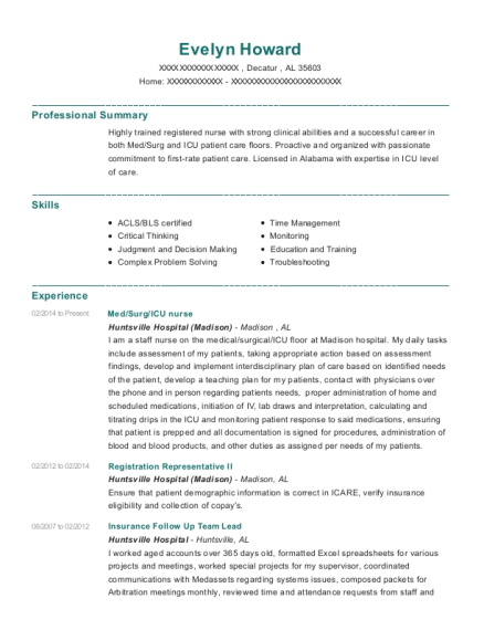 Med resume template Alabama