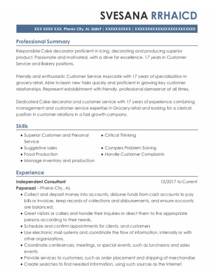 self employed independent consultant resume sample