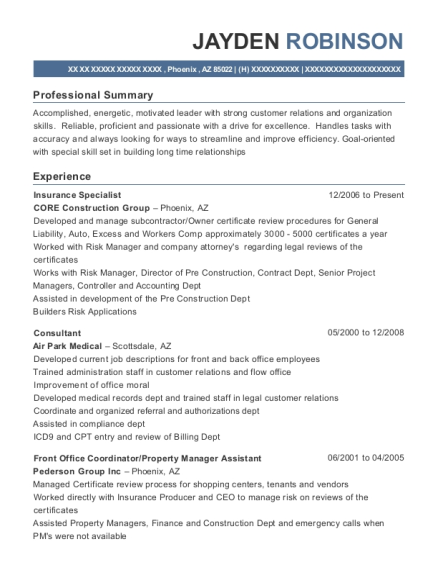 South Texas Radiology Imaging Center Front Office Coordinator Resume
