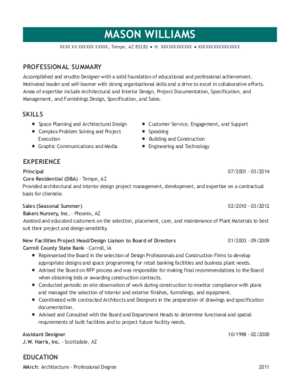 Principal resume sample Arizona