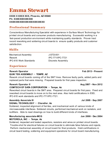 cactus wellhead valve tech resume sample