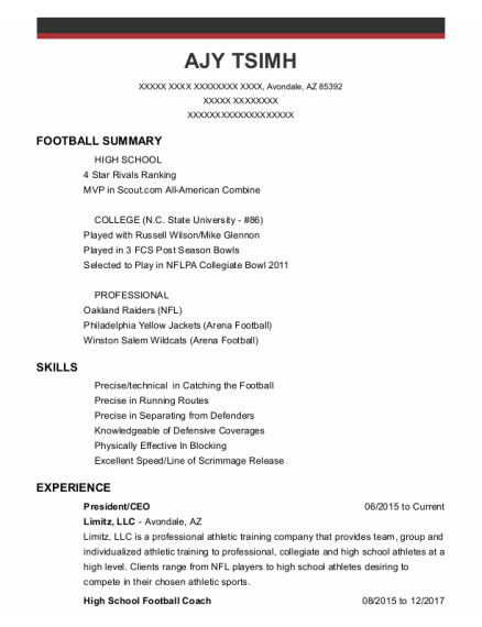 President resume format Arizona