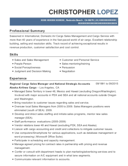Delta Air Lines Cargo Customer Service Agent Resume Sample
