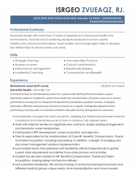 Employment Specialist resume example California