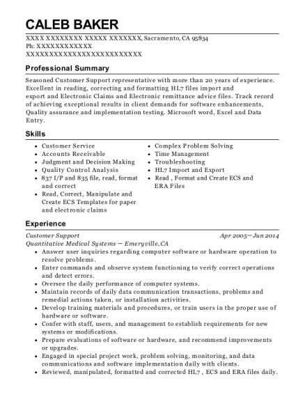 Time Warner Cable Customer Support Resume Sample - Raleigh North