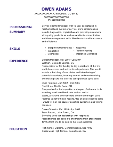 Support Manager resume example Colorado