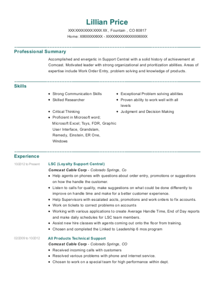 LSC resume template Colorado