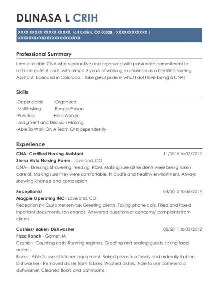 Receptionist resume template Colorado