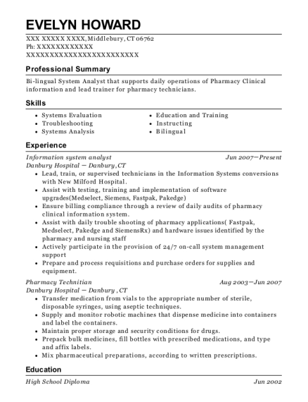 Information system analyst resume template Connecticut