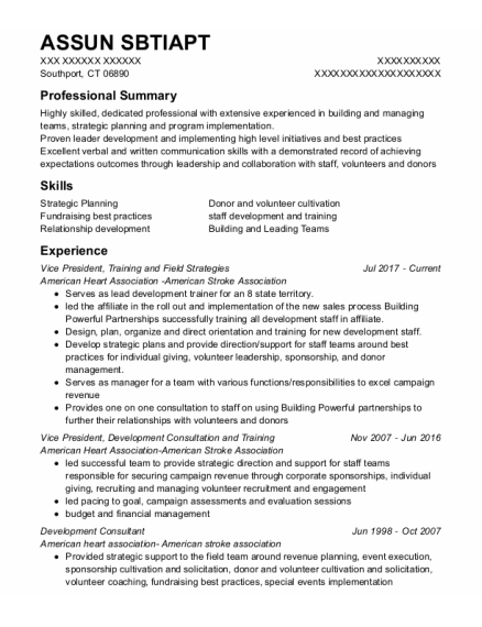 Vice President resume format Connecticut