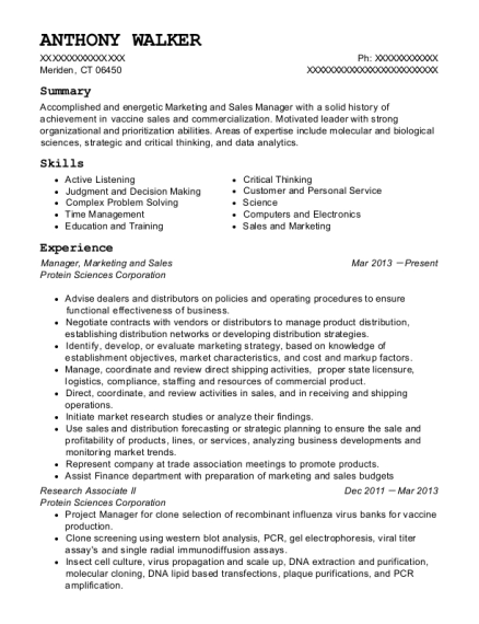 Manager resume format Connecticut
