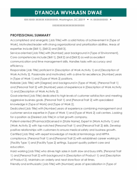 Bookeeper resume sample District Of Columbia