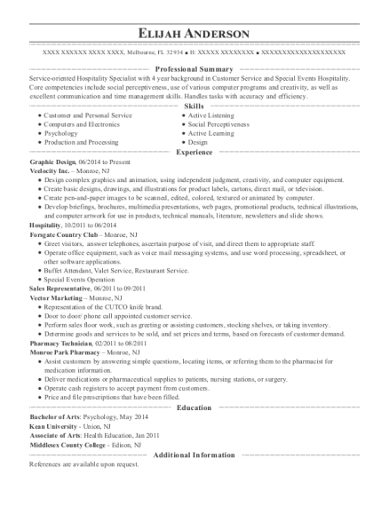 Graphic Design resume sample Florida