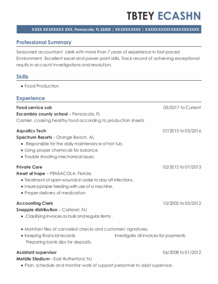 Private Care resume example Florida