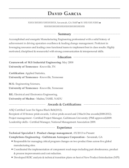 Completions Engineering Gulfstream Aerospace Corporation Technical