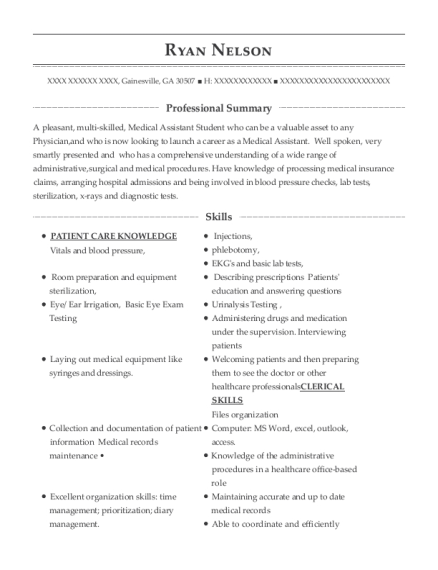 Customer Care Representative resume sample Georgia