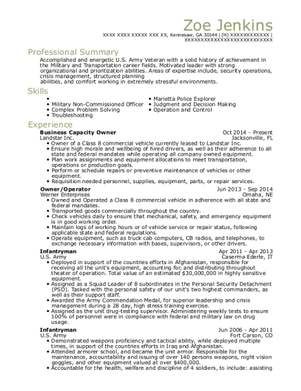 Business Capacity Owner resume sample Georgia