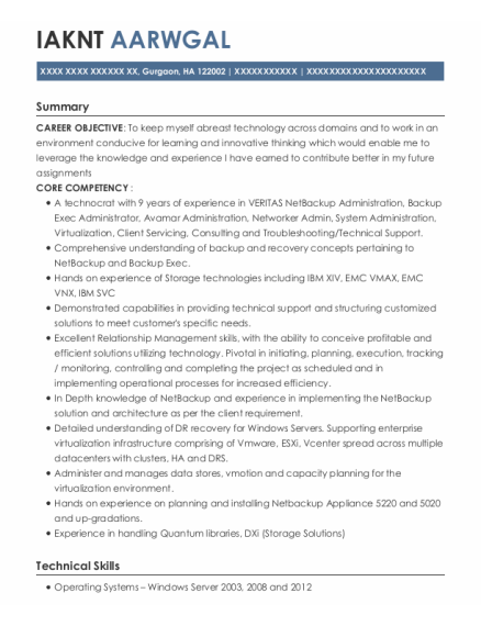 Technical Analyst resume template HA