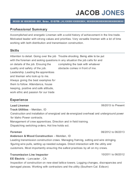 sentry electrical apprentice lineman resume sample