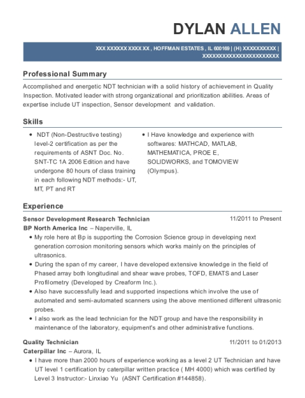ndt technician resume  the accounting cover letter