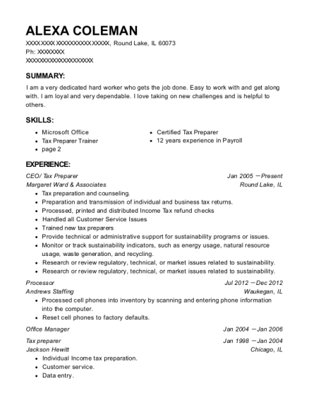CEO resume format Illinois