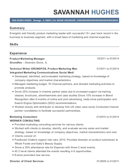 20 Best Product Marketing Manager Resumes Resumehelp