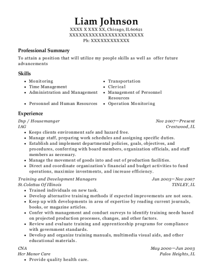 Dsp resume format Illinois