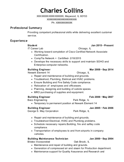 Student resume template Illinois