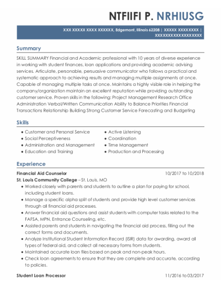 Academic Advisor resume template ILLINOIS