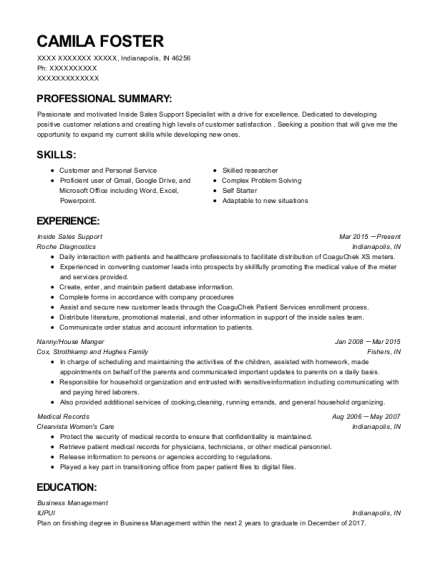 Action Battery Wholesalers Inside Sales Support Resume
