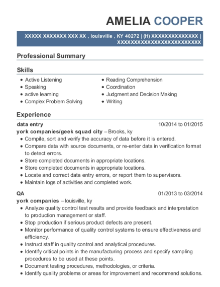 data entry resume sample Kentucky