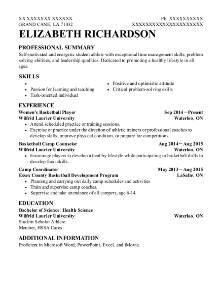 Basketball camp resume free essays on french and indian war