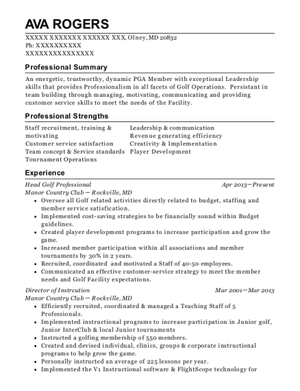 Golf professional resume science thesis statement generator