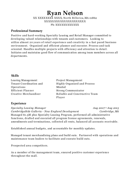 Best Leasing Manager Resumes