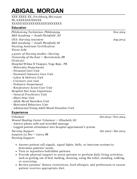 Volunteer resume sample Massachusetts