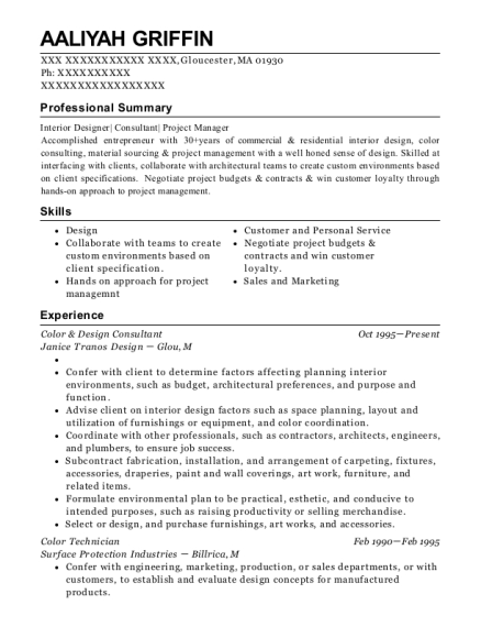 Lowes Psi Project Specialist Interior Resume Sample