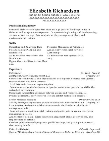 Sole Owner resume template Michigan