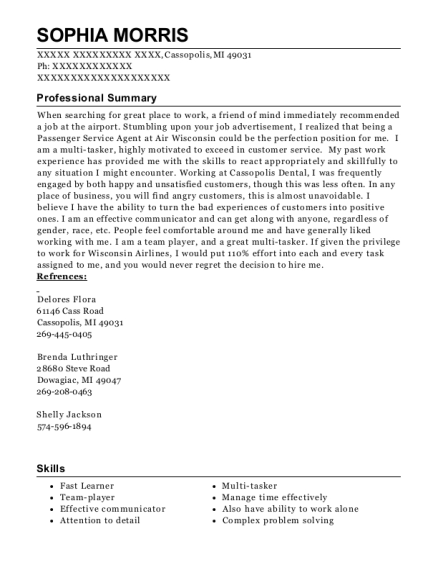 Fitness Instructor resume template Michigan