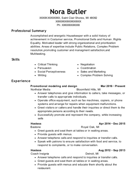 Promotional modeling and design resume format Michigan