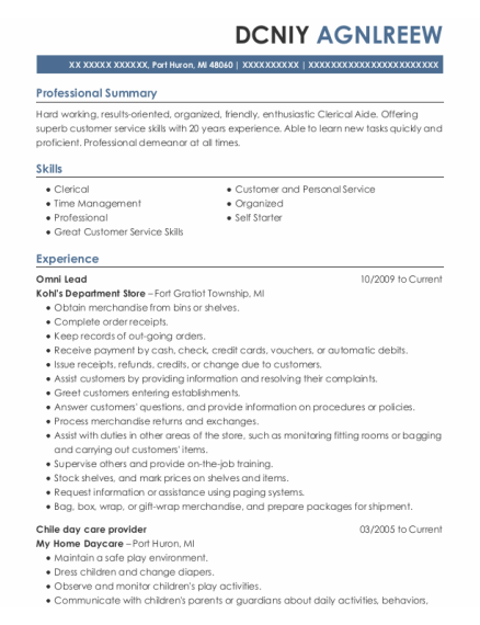 Quality Auditor resume example Michigan