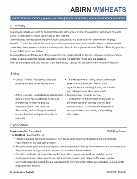 allscripts implementation consultant resume sample
