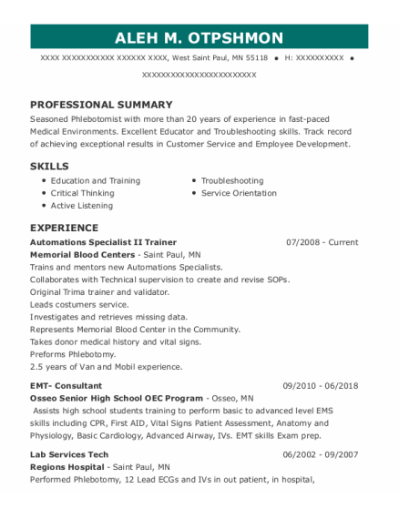 Nursing Assistant resume template Minnesota