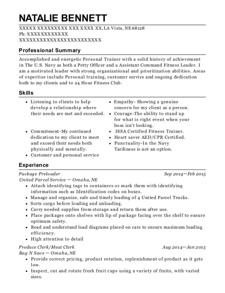 Package Preloader resume template Nebraska