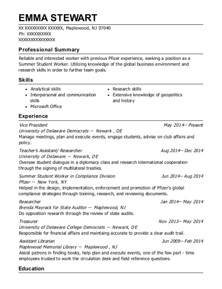 Vice President resume sample New Jersey