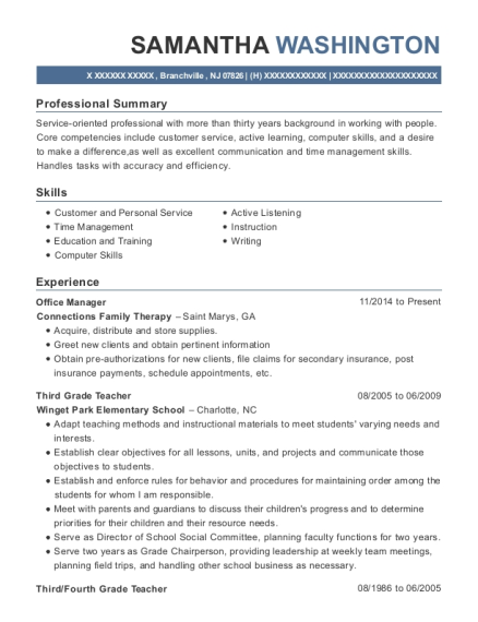 Office Manager resume example New Jersey
