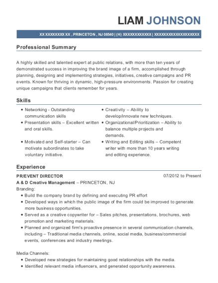 City Gear Llc Event Planner Resume Sample - Atlanta Georgia