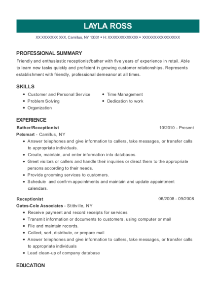 Bather resume format New York