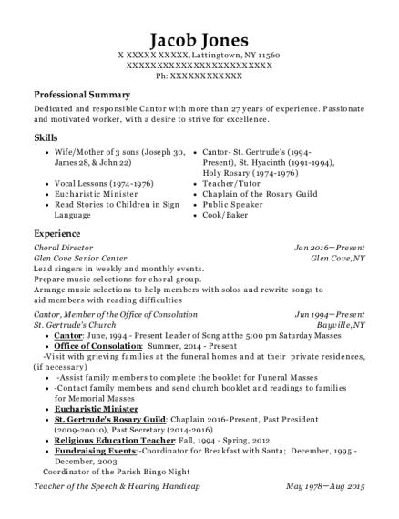 cantor resume