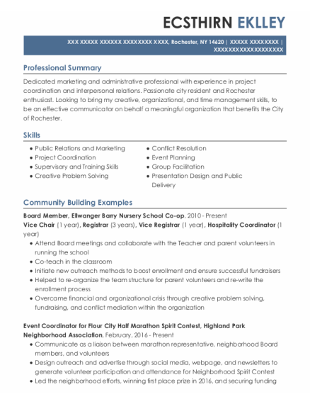 Employment Specialist resume sample New York
