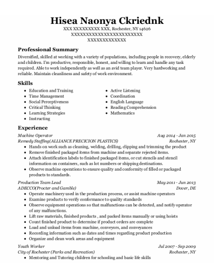 parkerville children and youth care youth worker resume